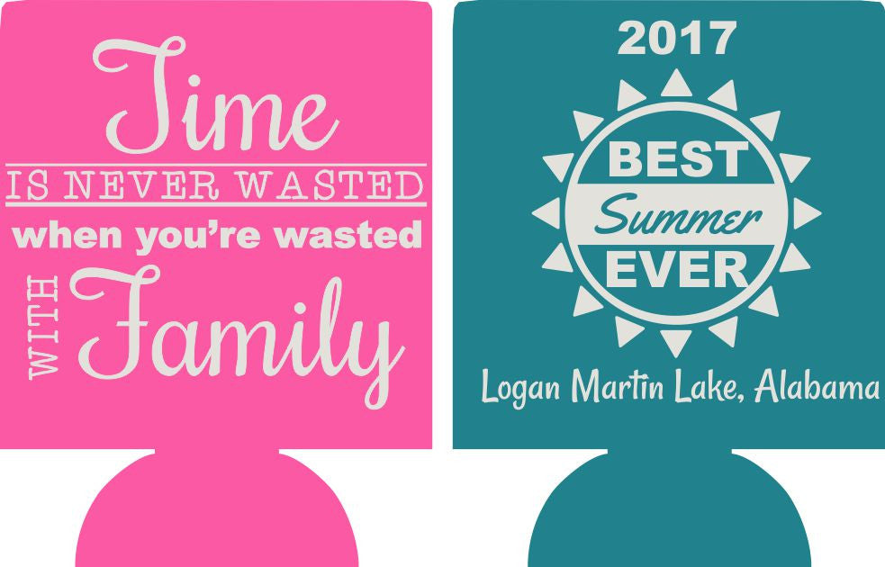 Family reunion beach party favors can coolers SP1779