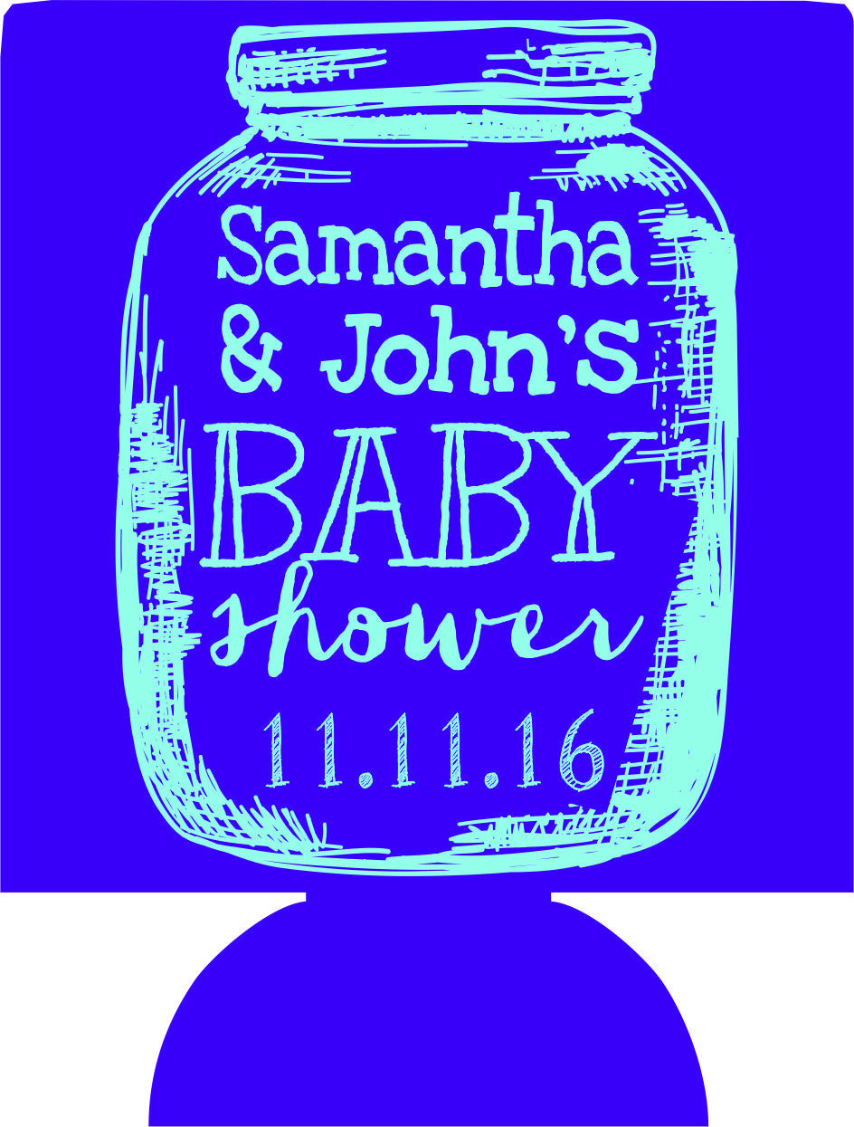 Mason Jar Baby Shower Can Coolers