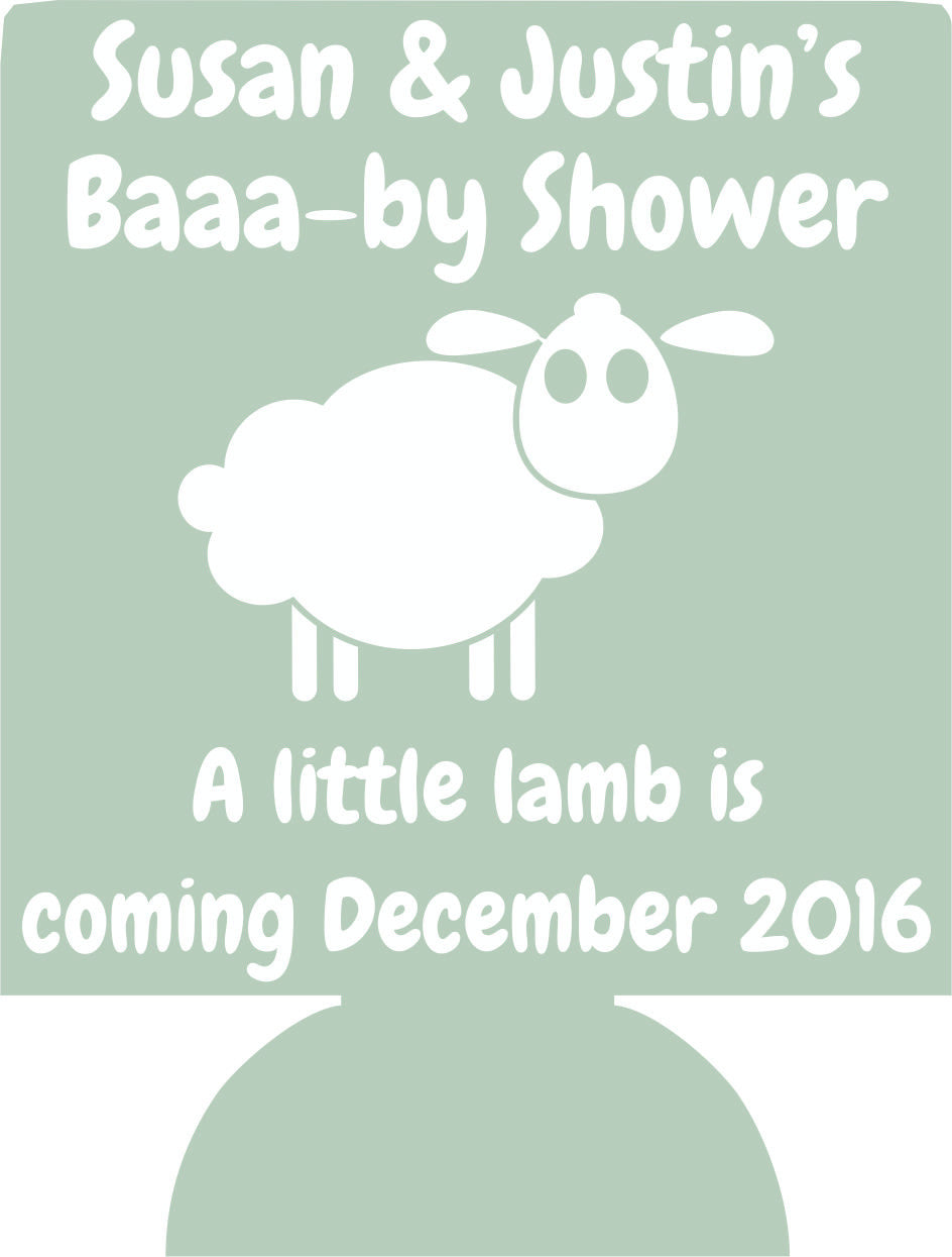 Lamb Baby Shower Can Coolers