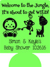 Jungle Baby Shower Can Coolers