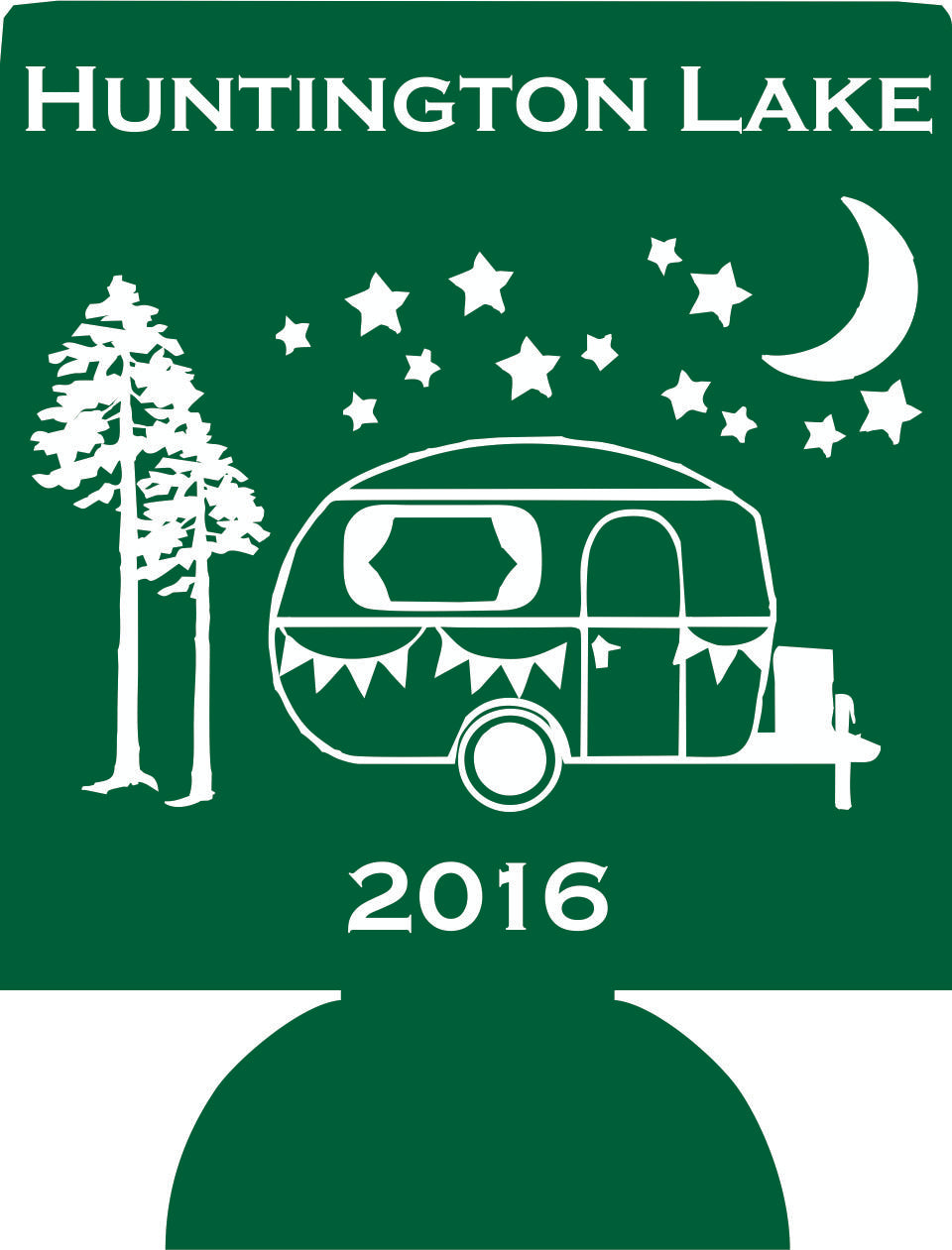 Lake Camping Party koozie Custom text can coolers personalized motor home