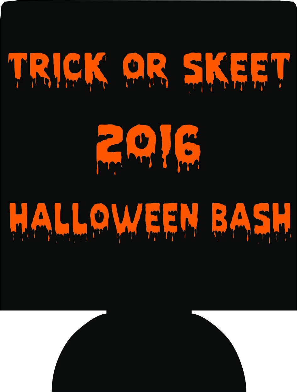 Trick or Skeet Halloween bash party favors can coolers e10152015-2