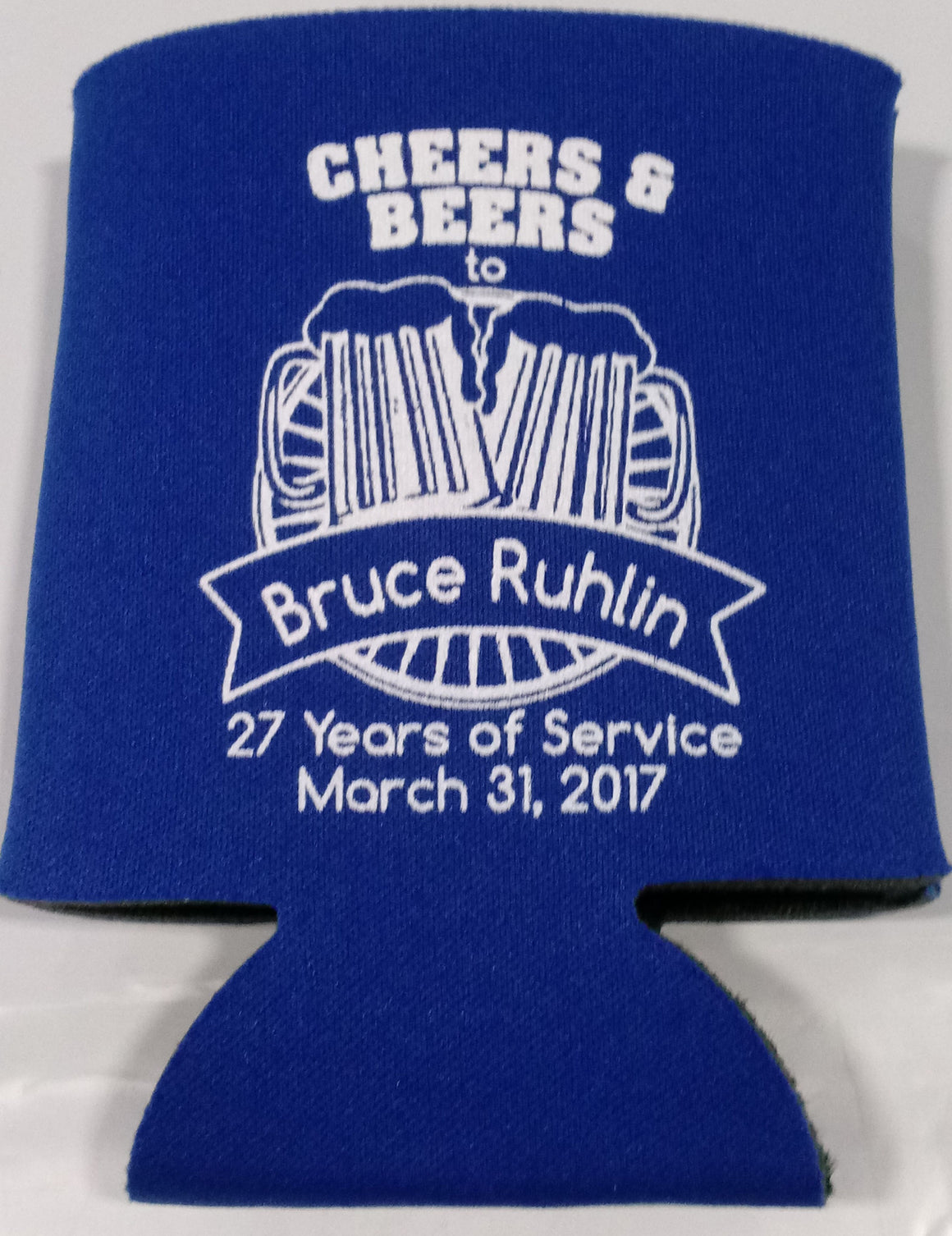 cheers and beers Retirement koozie Can Coolers