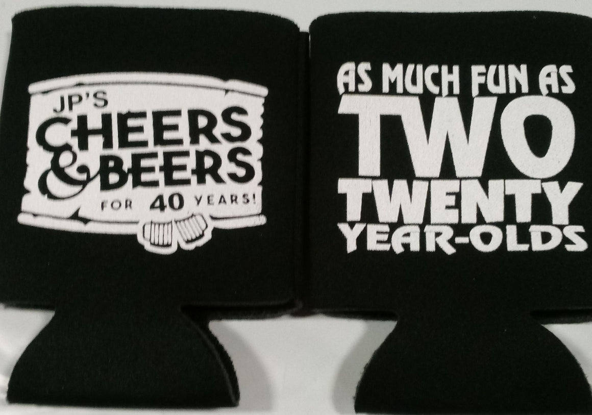 Cheers and Beers to 40 years Birthday party favors