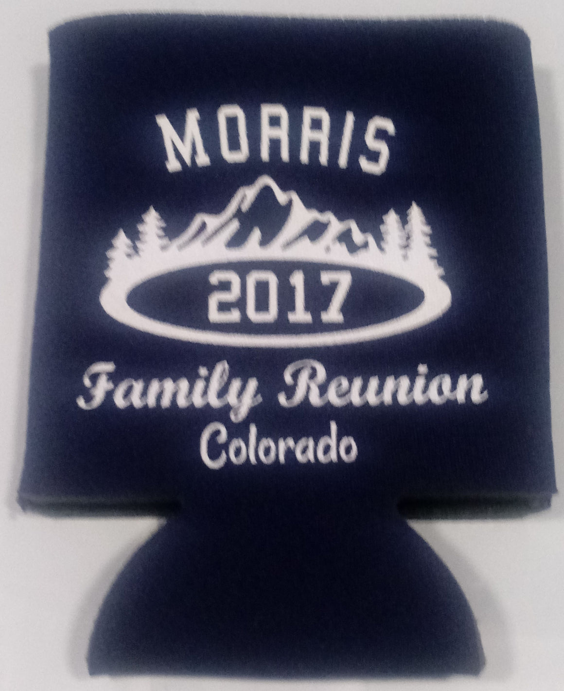 State Family reunion koozies party favors can coolers Colorado