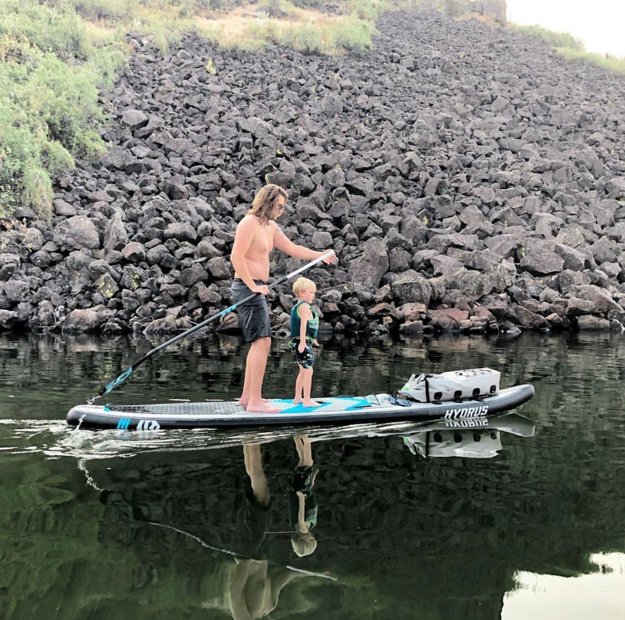 "SALE - Inflatable Paradise Touring Paddleboard 12'6""x30"" ISUP Hydrus"