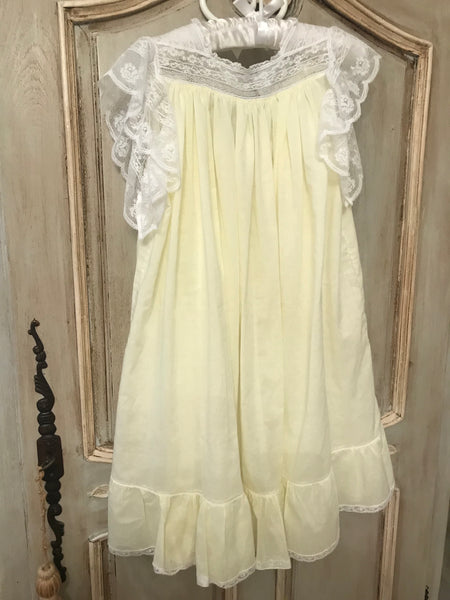 Yellow Pima Cotton Museum dress