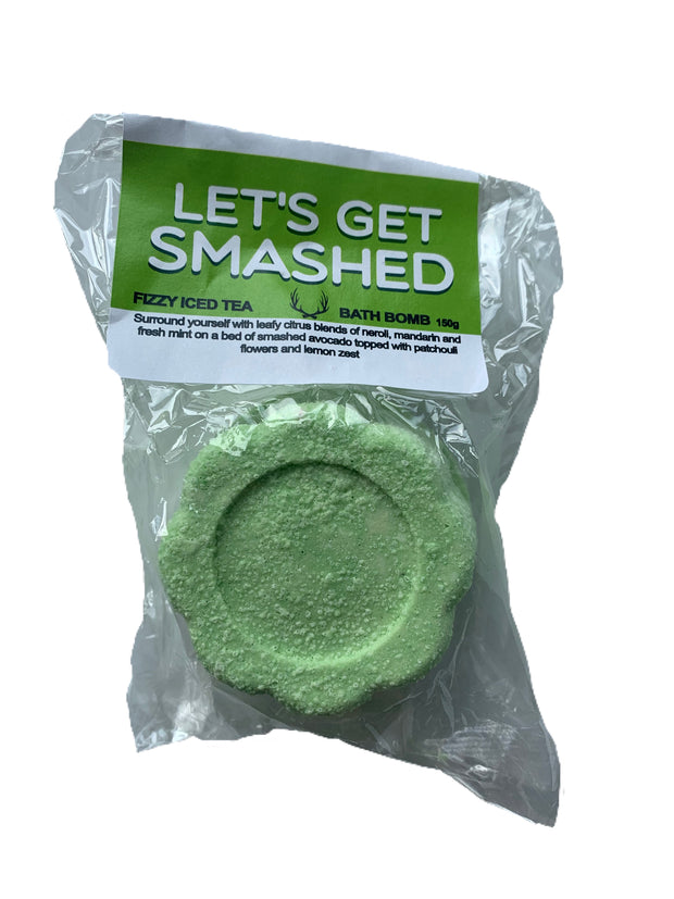 lets get smashed FIZZY ICED TEA BATH BOMB 150g