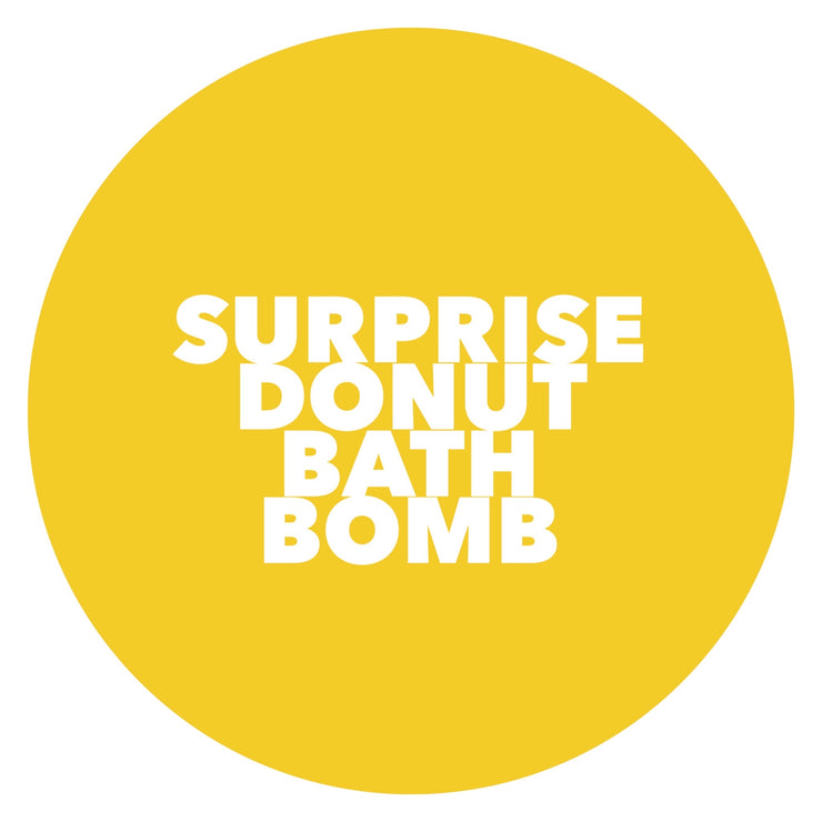 NEW limited release SURPRISE donut BATH BOMB 180g