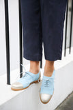 pastel blue shoes
