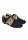 Blue brogues shoes