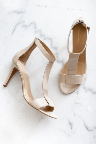 T bar nude sandals house of spring