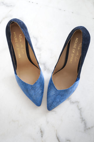 blue pumps house of spring