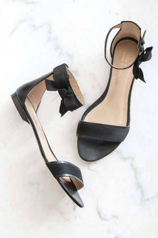 Black sandals summer shoes
