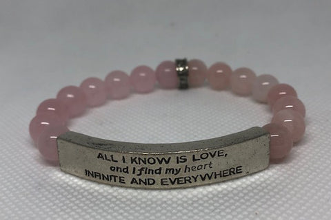 IamTra Quote Stack, All I Know Is Love..., Hafiz, Rose Quartz