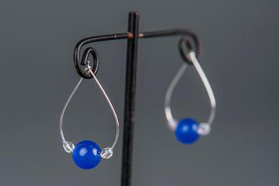 IamTra Hoops, Blue Agate