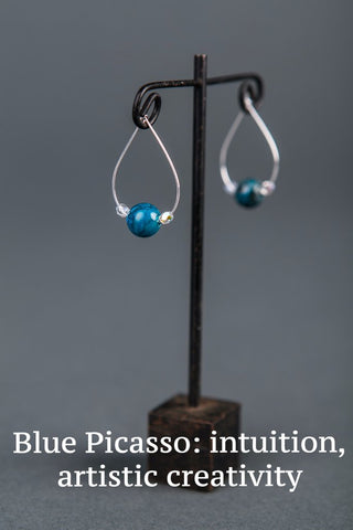 IamTra Hoops, Blue Picasso