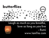 IamTra Candle: Butterflies