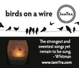 IamTra Candle: Birds on Wire