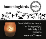 IamTra Candle: Hummingbirds