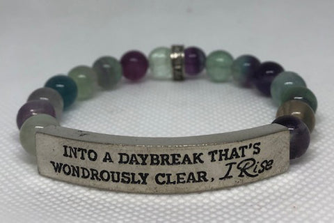 IamTra Quote Stack, Into a Daybreak That's Wondrously Clear, I Rise, Maya Angelou, Flourite