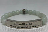 IamTra Quote Stack, Shine Like the Whole Universe Is Yours, Rumi, Blue Picasso