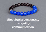 IamTra Stone Stack, Blue Agate: gentleness, tranquility & communication