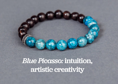 IamTra Stone Stack, Blue Picasso