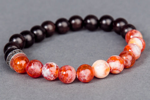 IamTra Stone Stack, Fire Agate: courage, protection, spiritual advancement