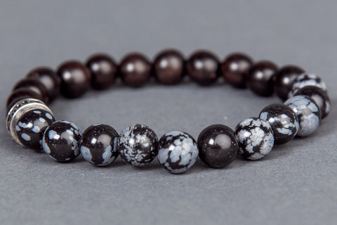IamTra Stone Stack, Snowflake Obsidian: balance, serenity & protection