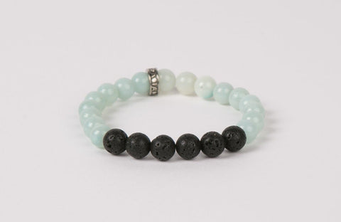 IamTra Lava Stack, Amazonite: lessens stress, strengthens self-esteem, hope stone