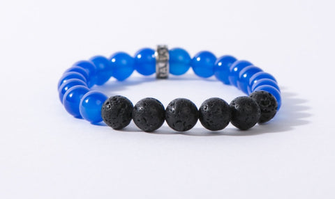 IamTra Lava Stack, Blue Agate: gentleness, tranquility, communication