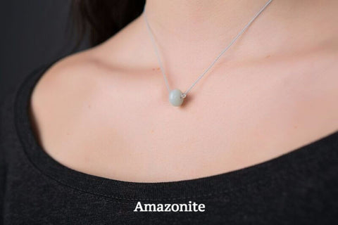 IamTra Necklace, Amazonite