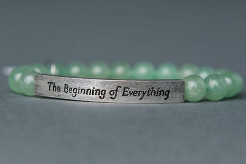 IamTra Quote Stack, The Beginning of Everything, F. Scott Fitzgerald, Aventurine