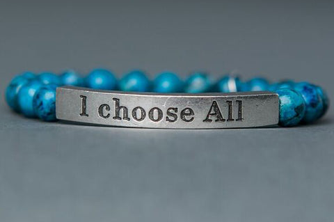 IamTra Quote Stack, I Choose All, Saint Therese, Blue Picasso