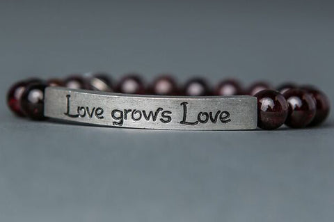 IamTra Quote Stack, Love Grows Love, Casey Haymes, Garnet