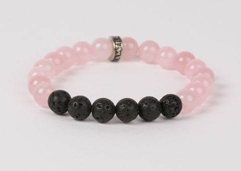 IamTra Lava Stack, Rose Quartz: unconditional love, opens heart, romantic, self-love
