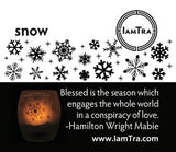 IamTra Candle: Snowflake
