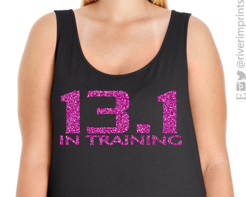 13.1 IN TRAINING Glittery Curvy Collection Women's Tank