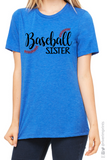 BASEBALL SISTER Glittery Cotton Tee
