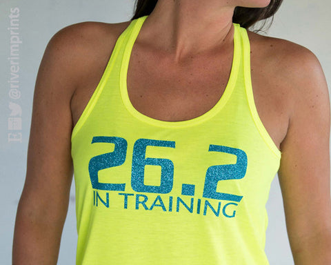 26.2 In Training Glittery ladies tank top