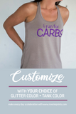 I RUN FOR CARBS Glittery 2-sided Flowy Tank