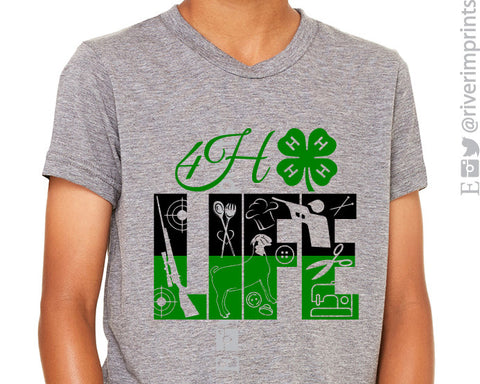 4H LIFE Youth Fair Triblend Tee River Imprints