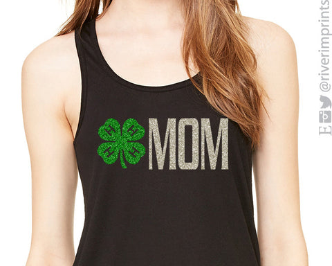 4H MOM glittery flowy tank top by River Imprints