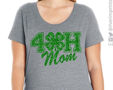 4H MOM scoopneck curvy women's t-shirt