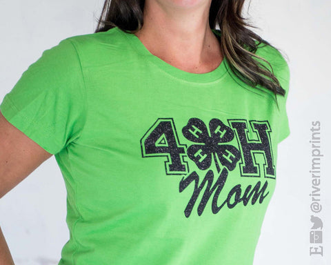 4H MOM glittery short sleeve t-shirt