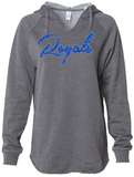 ROYALS Glittery V-neck Hooded Sweatshirt