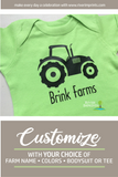 TRACTOR Personalized Cotton Onesie or Tee
