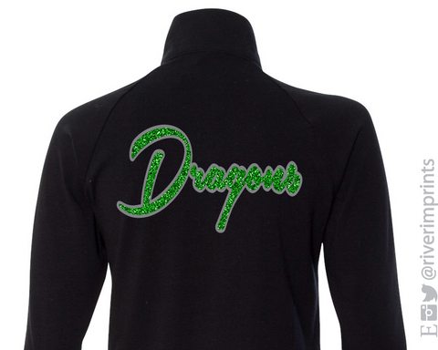 DRAGONS Glittery Womens Dragon School Mascot Cadet Jacket