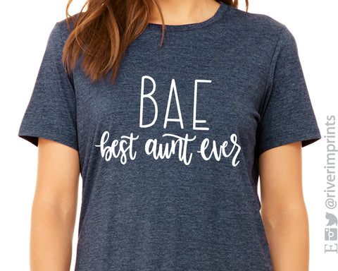 BAE Best Aunt Ever Triblend Tee T-shirt River Imprints